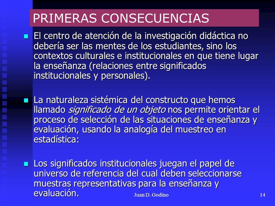 PRIMERAS CONSECUENCIAS