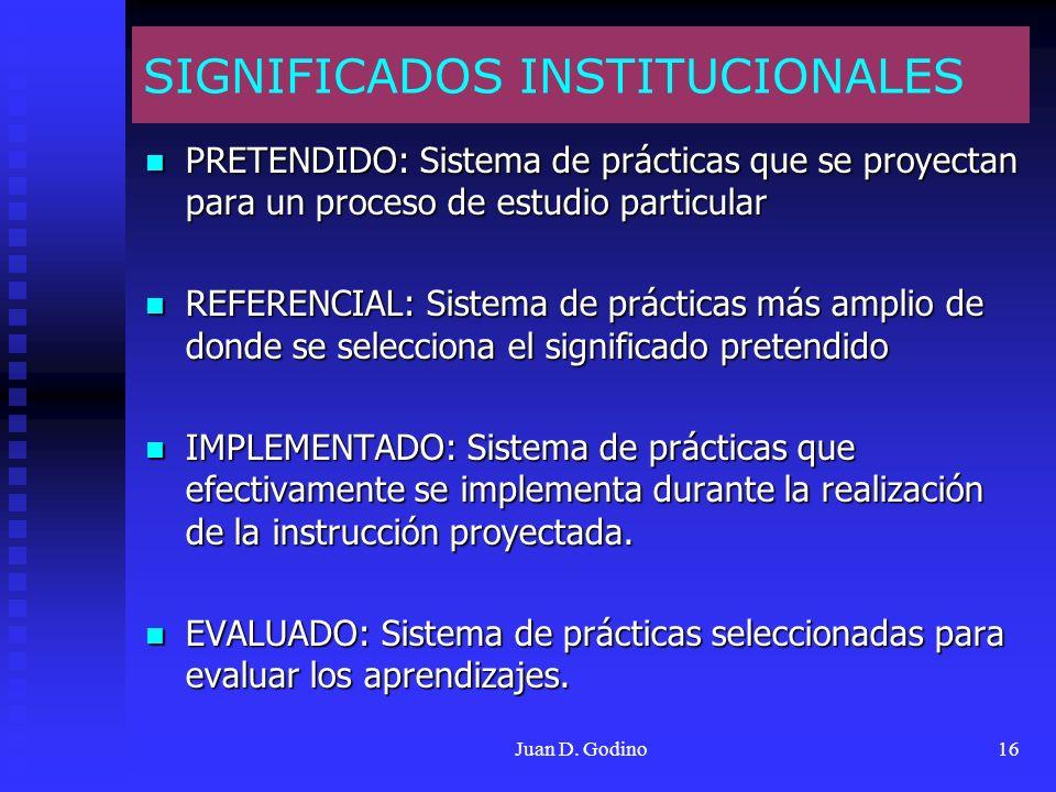 SIGNIFICADOS INSTITUCIONALES