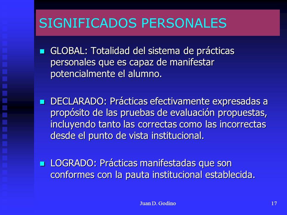 SIGNIFICADOS PERSONALES