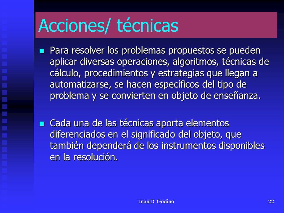 Acciones/ técnicas