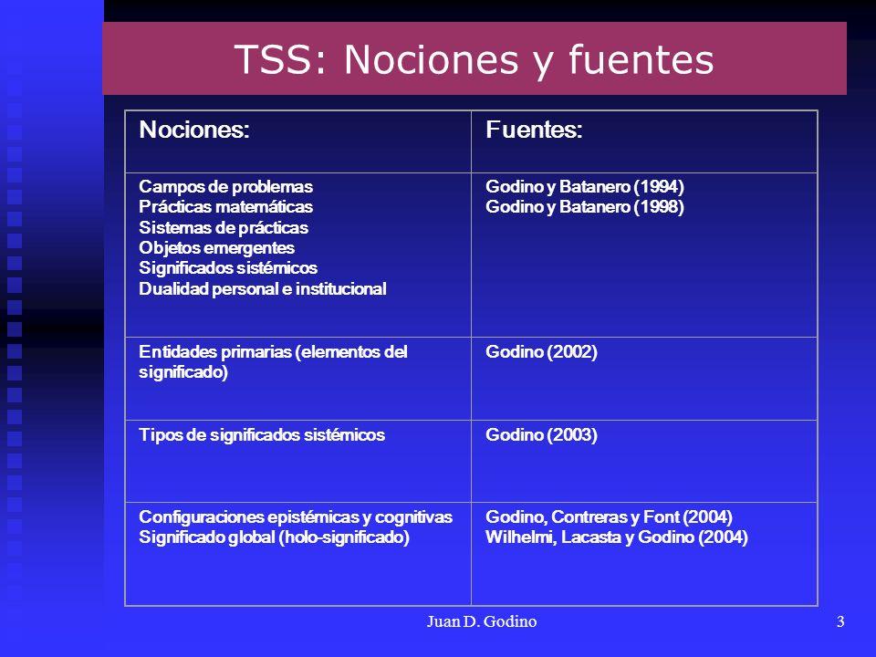 TSS: Nociones y fuentes