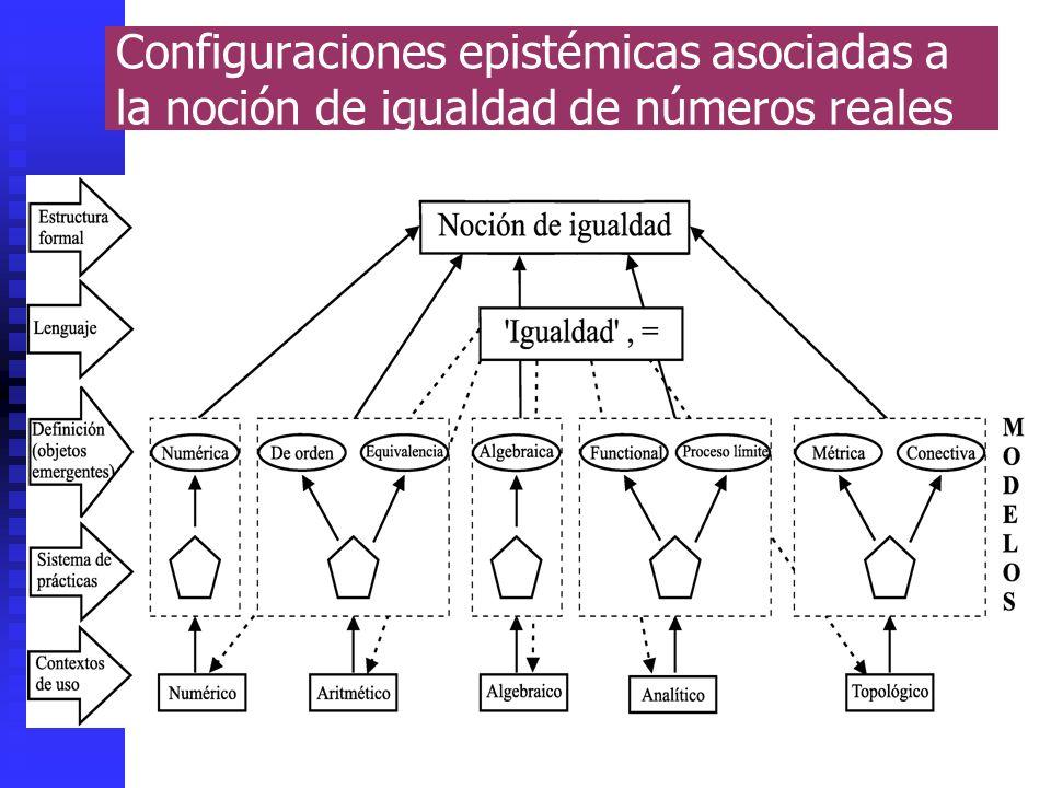 Configuraciones epistémicas asociadas a la noción de igualdad de números reales
