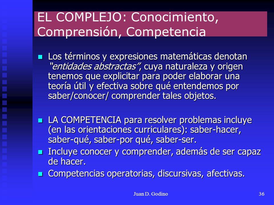 EL COMPLEJO: Conocimiento, Comprensión, Competencia