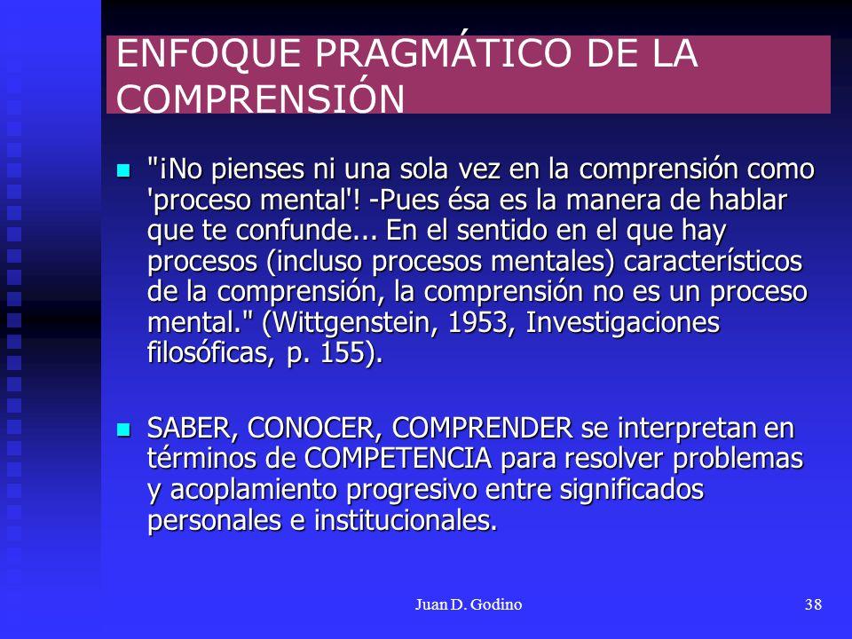 ENFOQUE PRAGMÁTICO DE LA COMPRENSIÓN