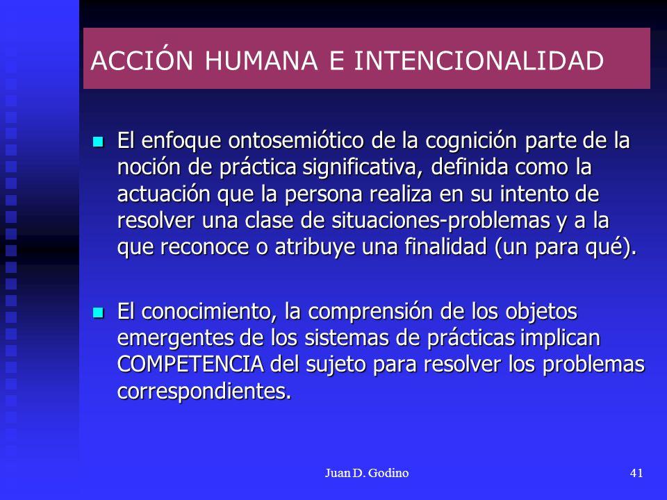 ACCIÓN HUMANA E INTENCIONALIDAD