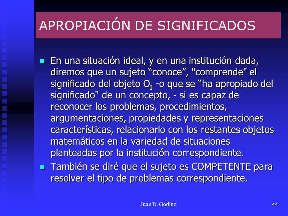 APROPIACIÓN DE SIGNIFICADOS
