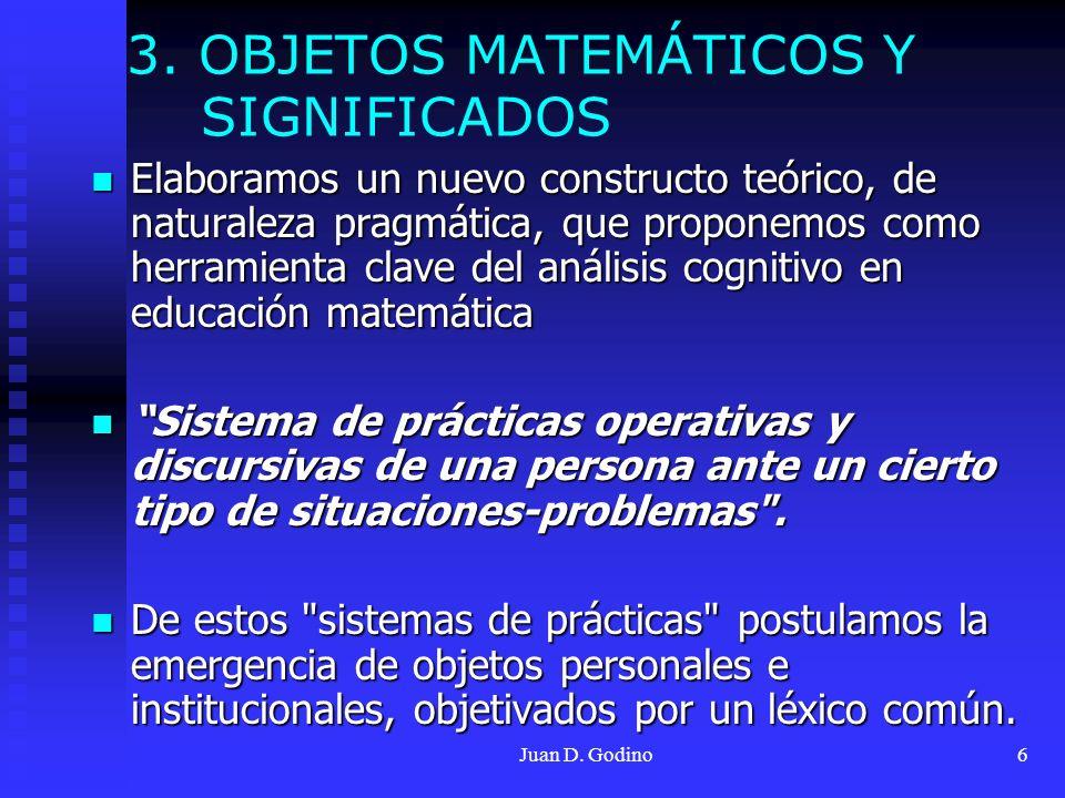 3. OBJETOS MATEMÁTICOS Y SIGNIFICADOS