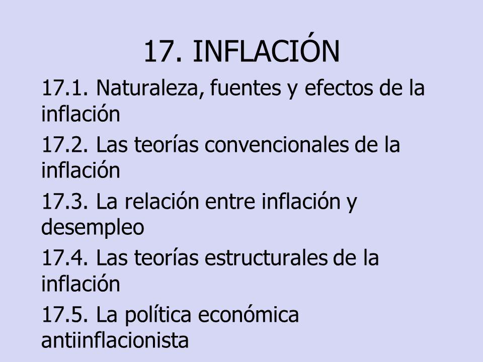 17. INFLACIÓN 17.1. Naturaleza, fuentes y efectos de la inflación