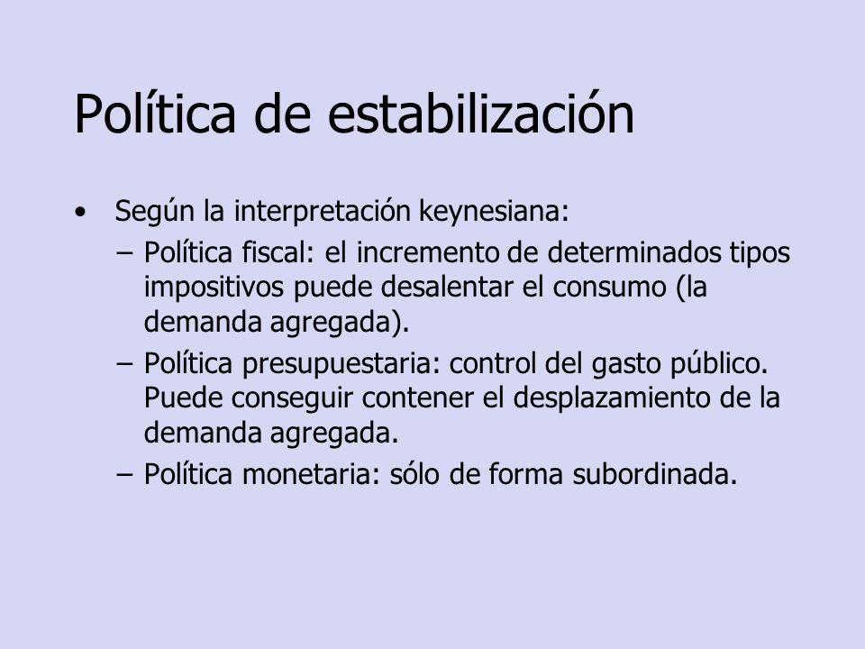 Política de estabilización