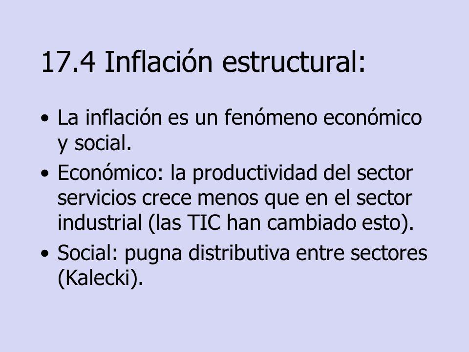 17.4 Inflación estructural: