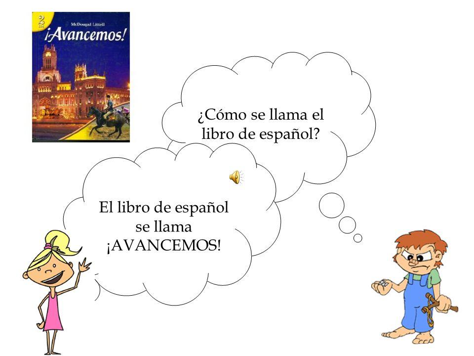 ¿Cómo se llama el libro de español