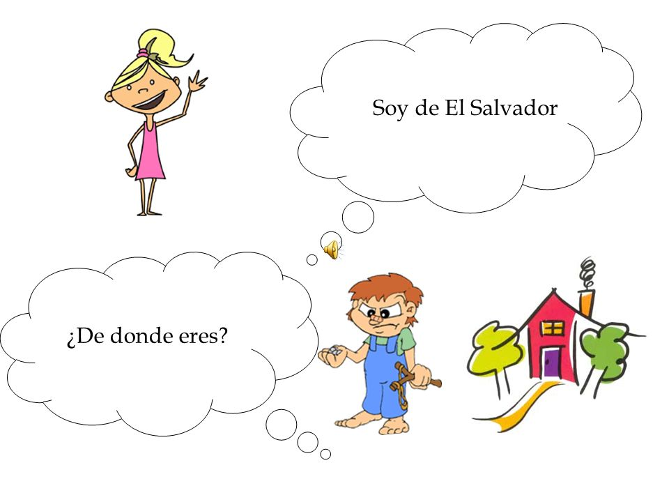 Soy de El Salvador ¿De donde eres
