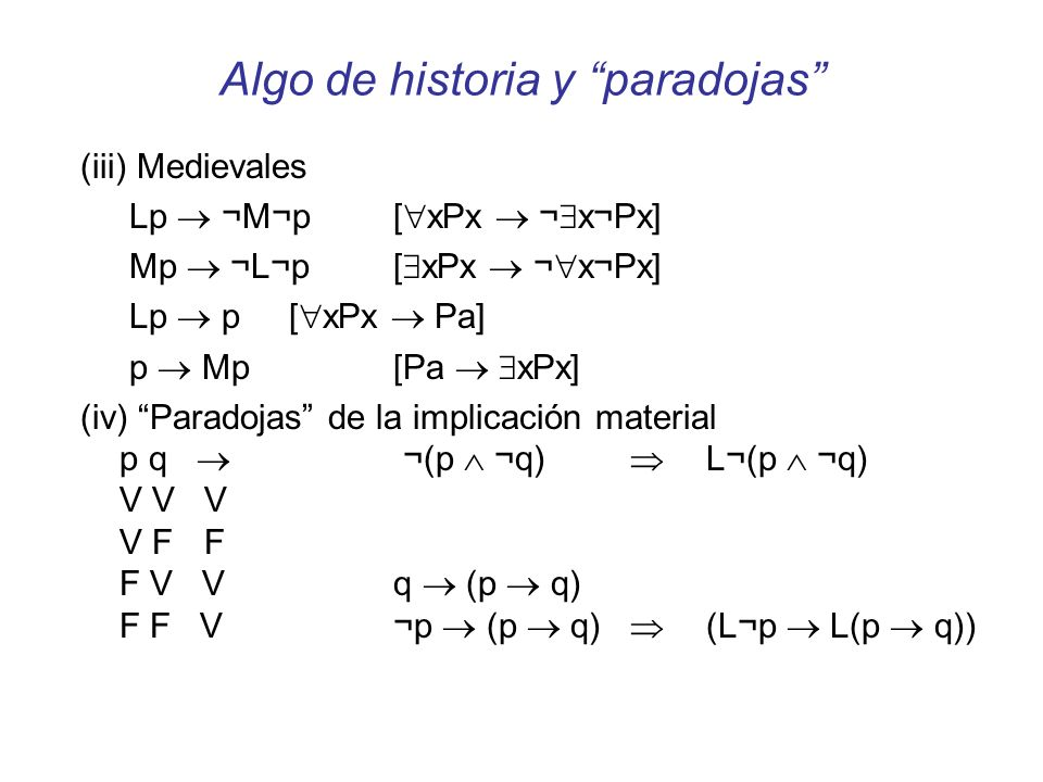 Algo de historia y paradojas