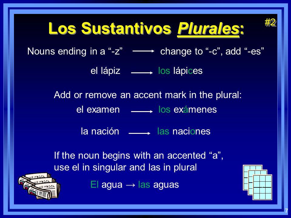 Los Sustantivos Plurales: