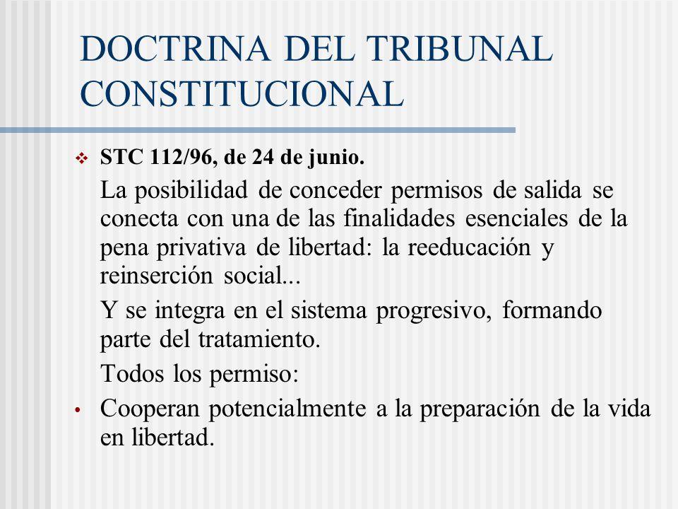 DOCTRINA DEL TRIBUNAL CONSTITUCIONAL