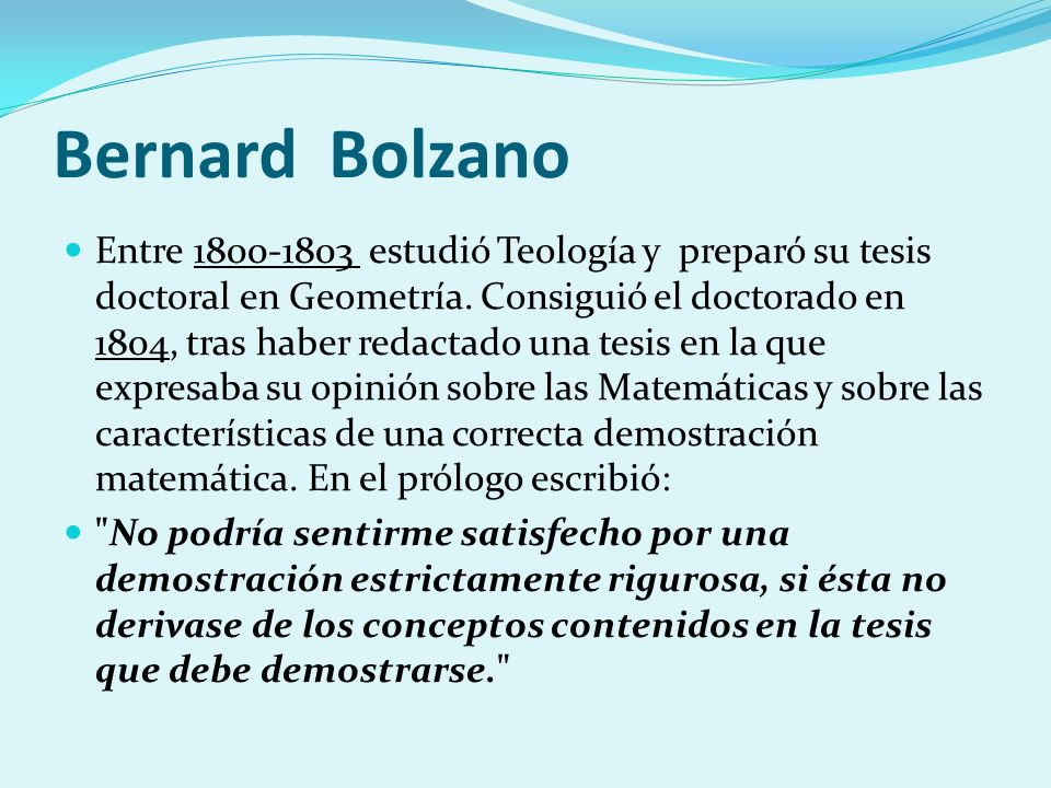 Bernard Bolzano
