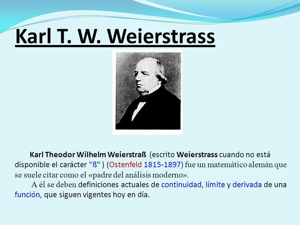 Karl T. W. Weierstrass