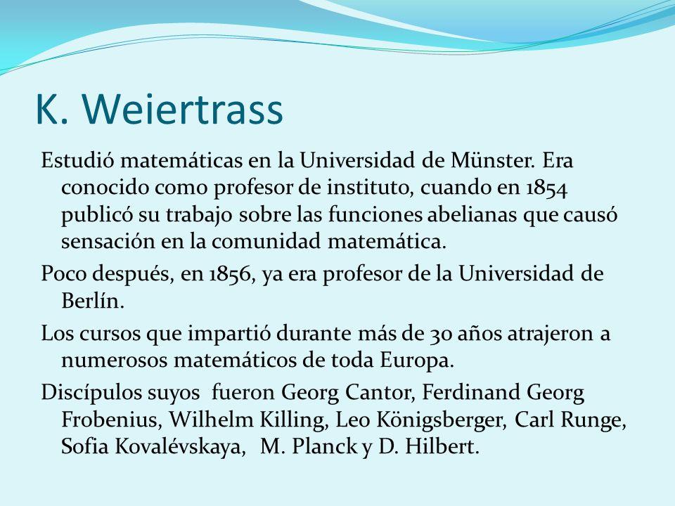K. Weiertrass