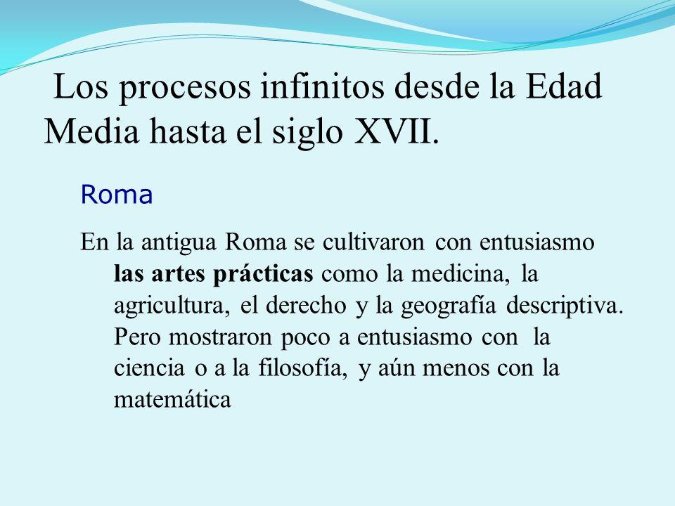 Los procesos infinitos desde la Edad Media hasta el siglo XVII.