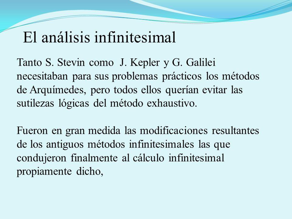 El análisis infinitesimal