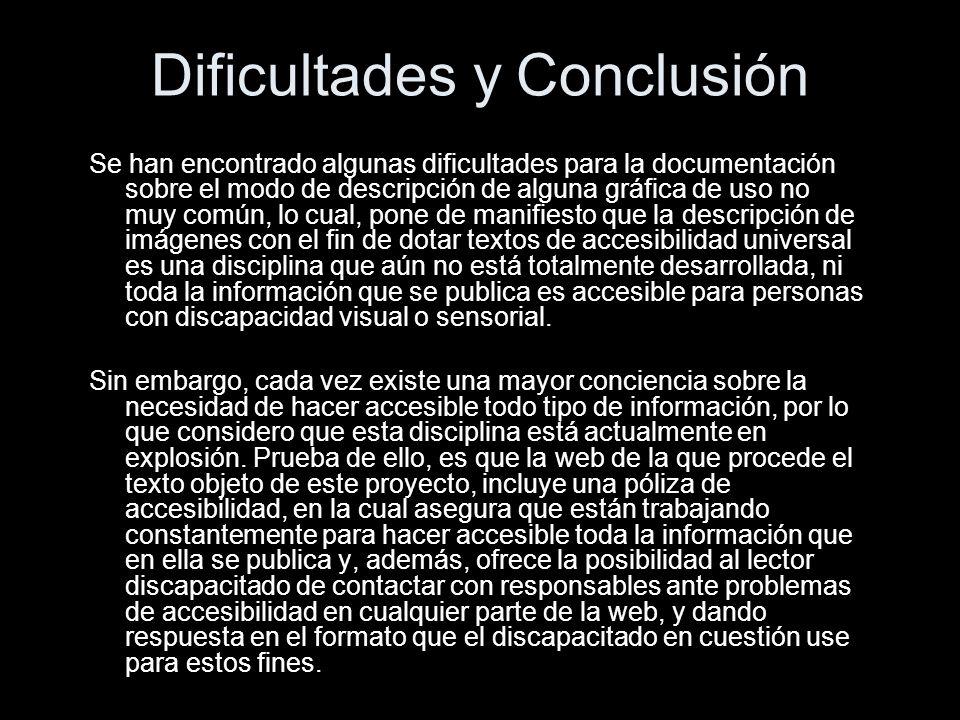 Dificultades y Conclusión