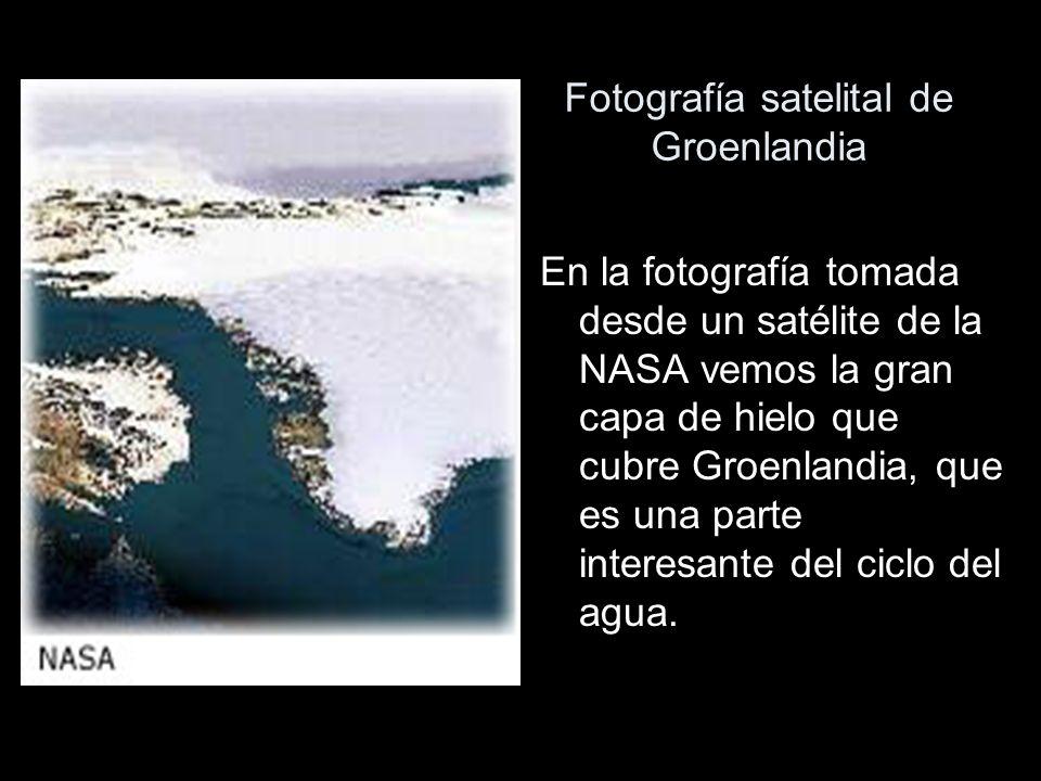 Fotografía satelital de Groenlandia