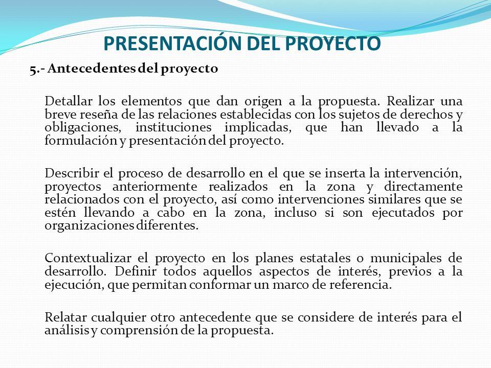 presentacion de un proyecto unifeed club
