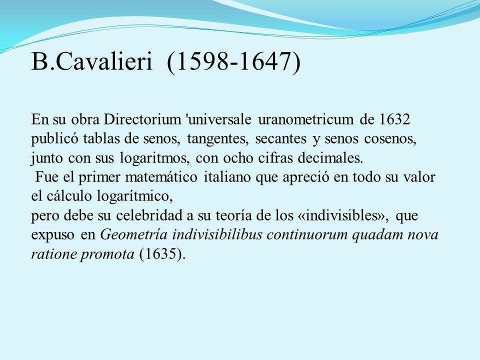B.Cavalieri (1598-1647)