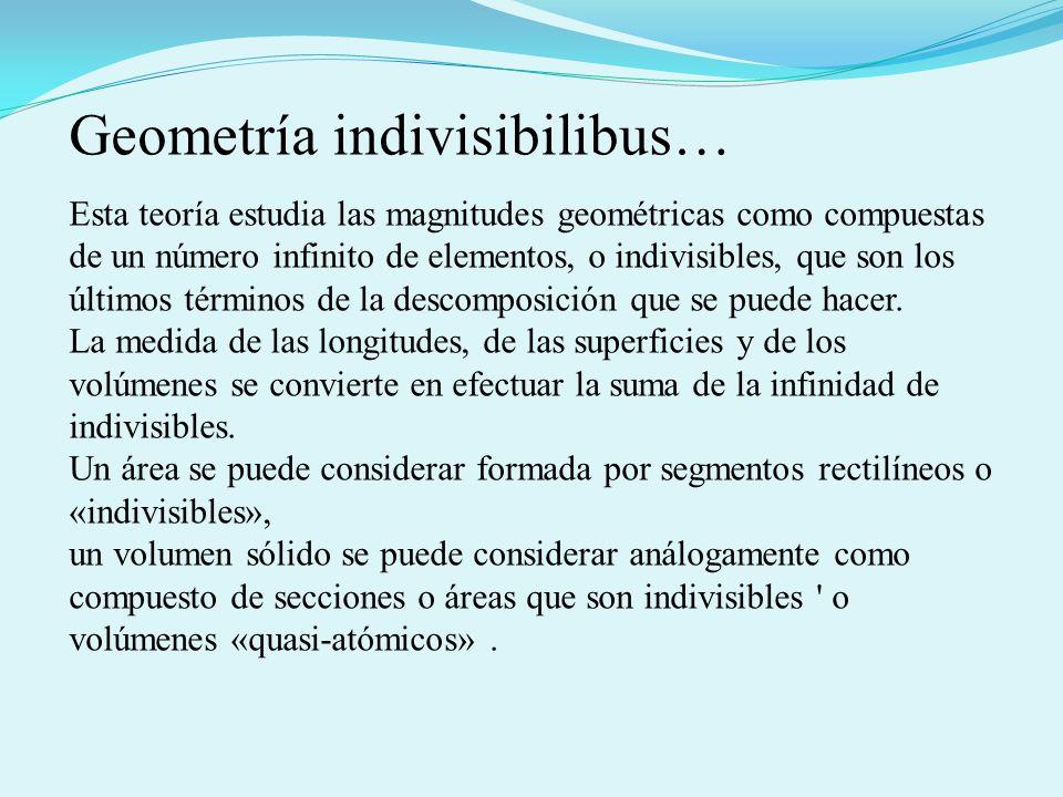 Geometría indivisibilibus…