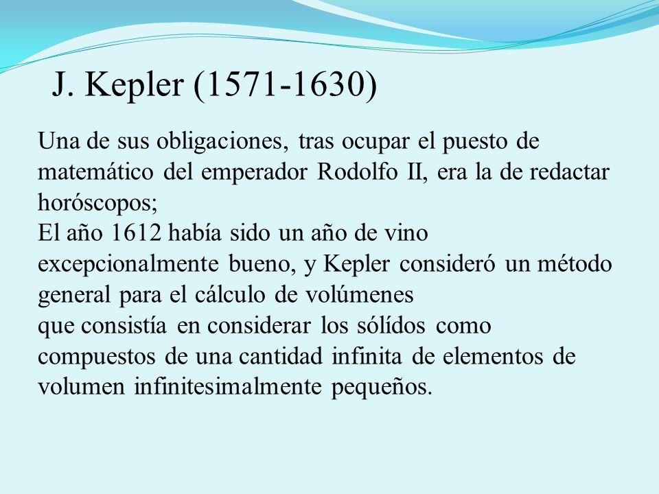 J. Kepler (1571-1630) Una de sus obligaciones, tras ocupar el puesto de matemático del emperador Rodolfo II, era la de redactar horóscopos;