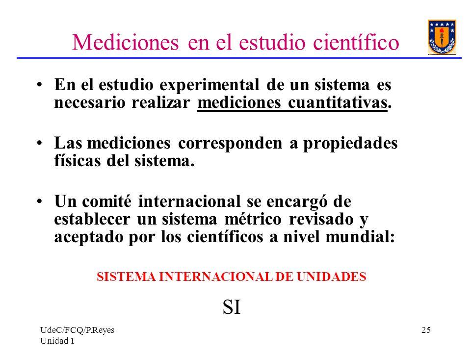 Mediciones en el estudio científico