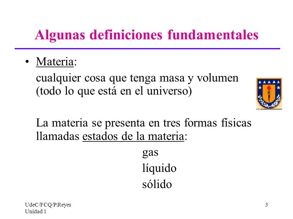 Algunas definiciones fundamentales