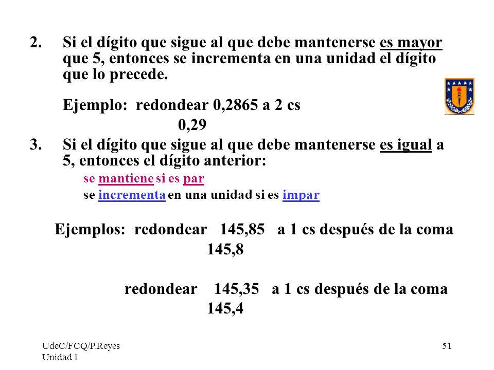 Ejemplo: redondear 0,2865 a 2 cs 0,29