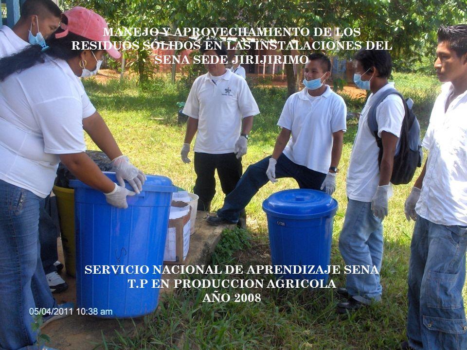 SERVICIO NACIONAL DE APRENDIZAJE SENA T.P EN PRODUCCION AGRICOLA