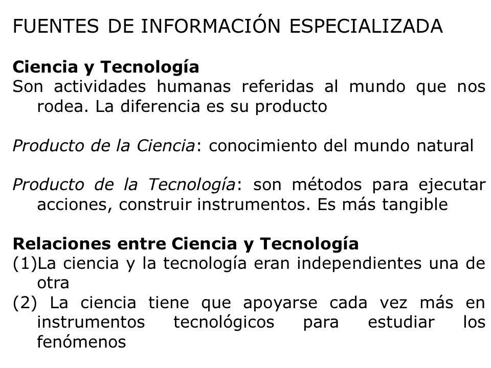 FUENTES DE INFORMACIÓN ESPECIALIZADA