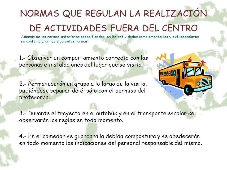 Normas de convivencia colegio san jos ppt video online for Normas para el comedor escolar