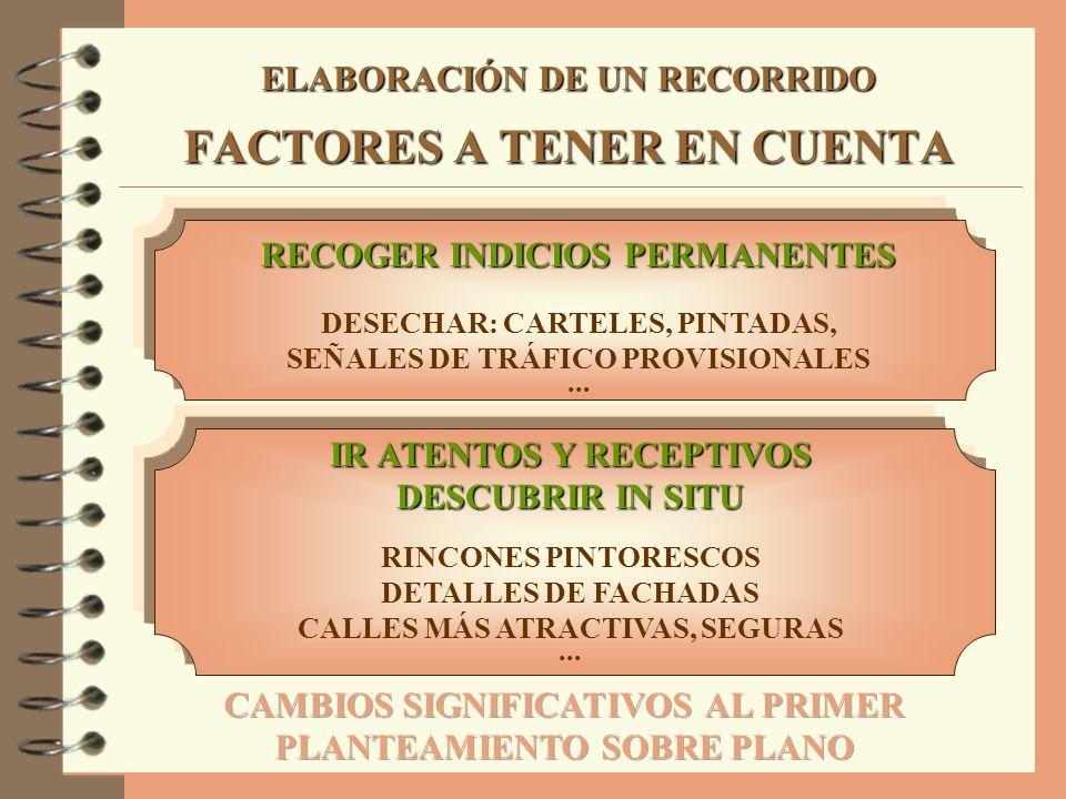 ELABORACIÓN DE UN RECORRIDO FACTORES A TENER EN CUENTA