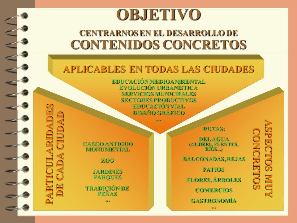 OBJETIVO CENTRARNOS EN EL DESARROLLO DE CONTENIDOS CONCRETOS