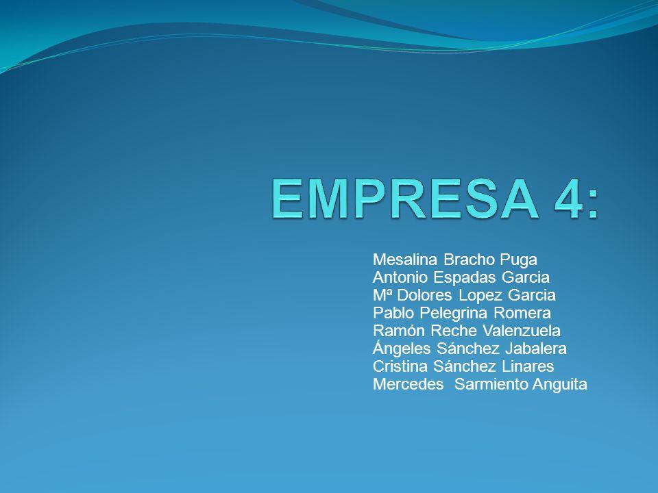 EMPRESA 4: Mesalina Bracho Puga Antonio Espadas Garcia