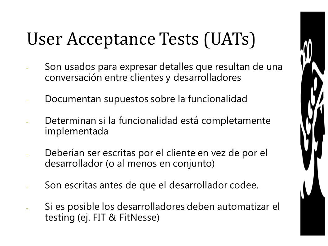User Acceptance Tests (UATs)