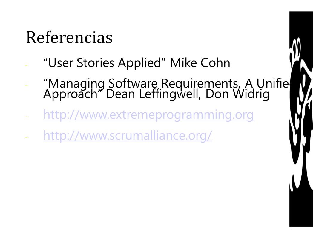 Referencias User Stories Applied Mike Cohn