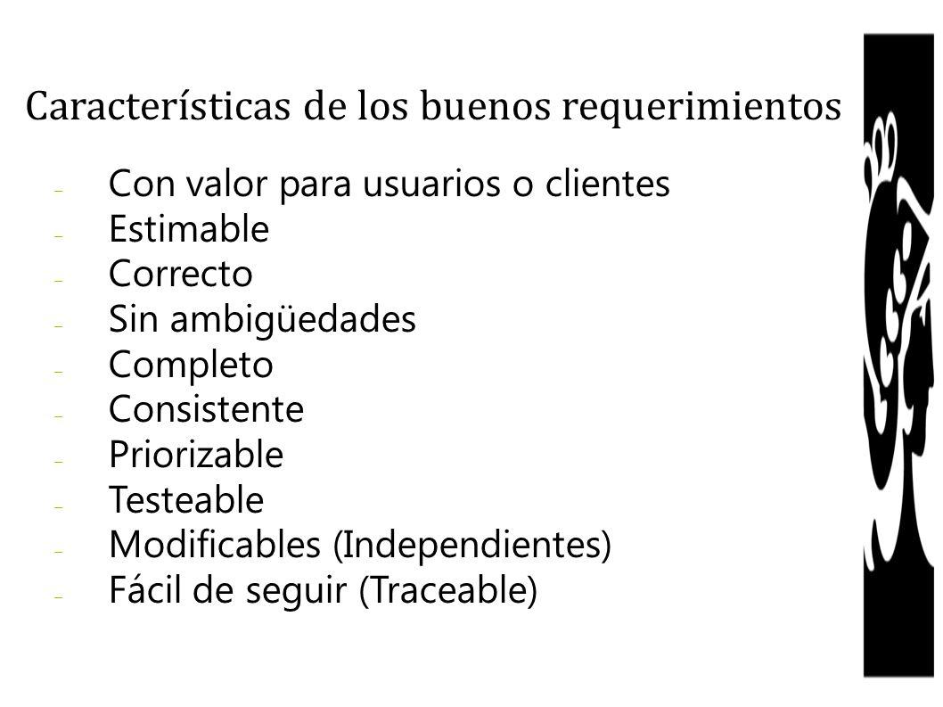 Características de los buenos requerimientos