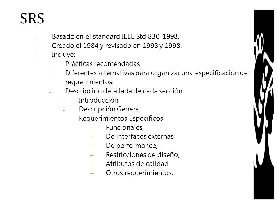 SRS Basado en el standard IEEE Std 830-1998,