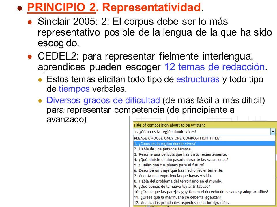 PRINCIPIO 2. Representatividad.