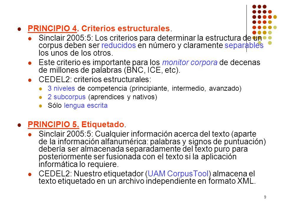 PRINCIPIO 4. Criterios estructurales.