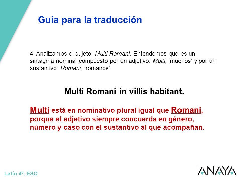 Multi Romani in villis habitant.