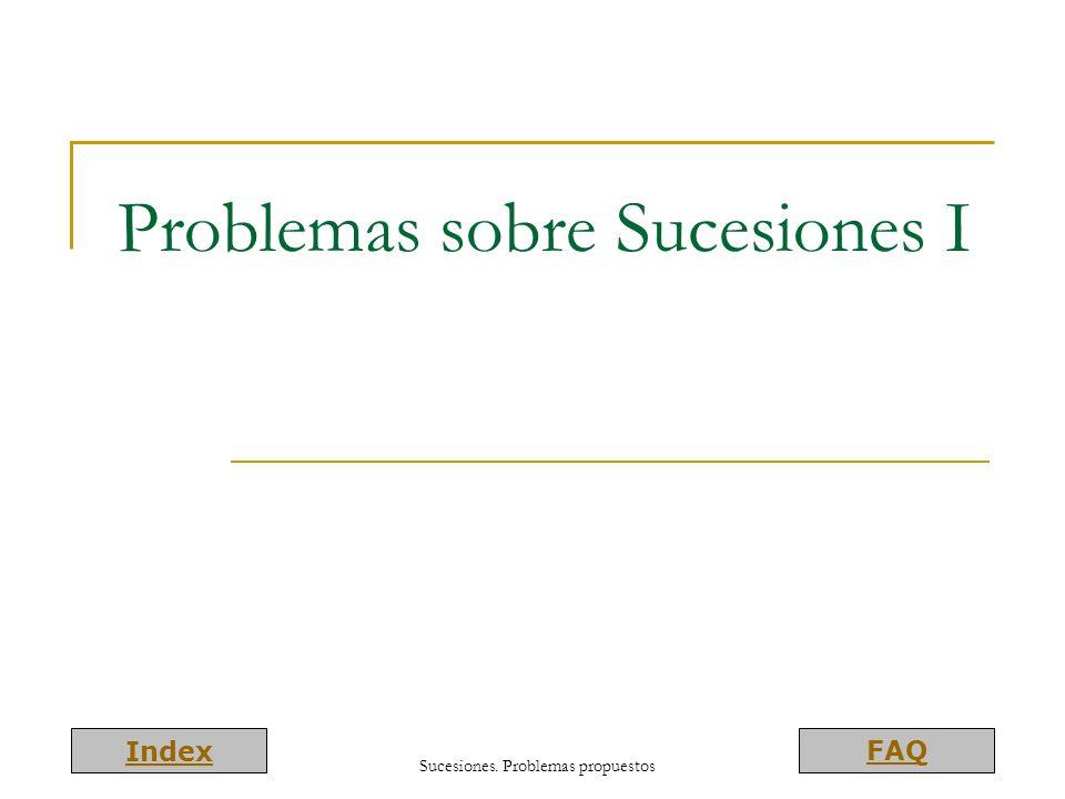 Problemas sobre Sucesiones I
