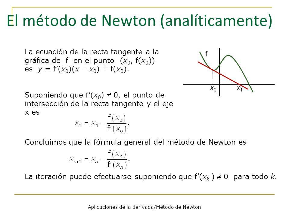 El método de Newton (analíticamente)