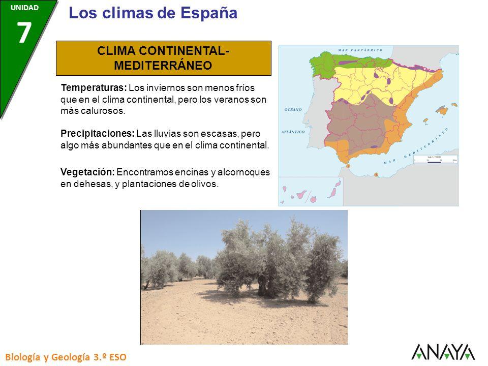 CLIMA CONTINENTAL-MEDITERRÁNEO
