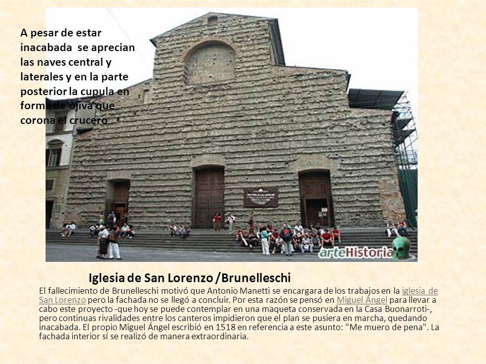 El arte renacentista el quattrocento arquitectura for Interior iglesia san lorenzo brunelleschi